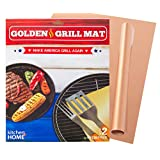 Kitchen + Home Golden Grill Mat - Make America Grill Again - Set of 2 Non-stick, Heavy Duty, Reusable, BPA and PFOA Free - BBQ Grill & Baking Mats for Gas, Charcoal and Electric Grills