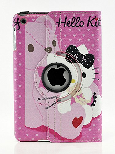 iPad Air 2 case, Hello Kitty Design 360 Degree Rotating PU Leather Hard Case for Apple iPad Air 2 (Color 5)