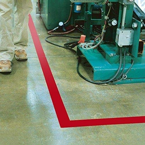GHS Safety PST412XL, 4'' x 180' Red Aisle Floor Tape, Pack of 10 Roll