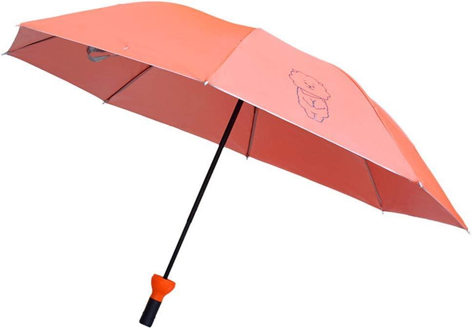 Comeyang Mini sombrilla, Paraguas de Viaje portátil, protección UV, Actividades al Aire Libre,Sombrilla Plegable Color Caramelo sombrilla color6 100cm: Amazon.es: Hogar