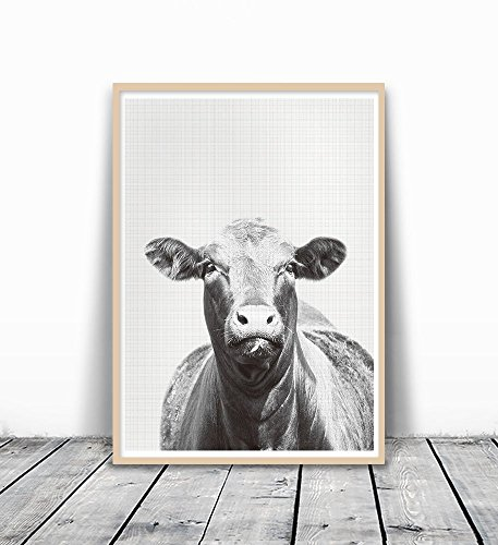 Black and White Animal Print, Cow Photography, Farm Print, Cow Print, Gray Photography, Animal Print Nursery, Art Print, Photography Print, Cow Art, Black and White Cow Art, Animal Photography, 8x10 (Black White Cow Print)