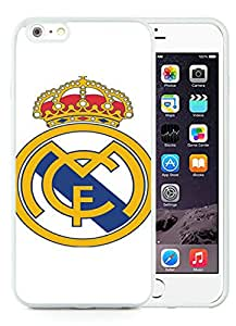 Real Madrid 4 White Customize iPhone 6plus 5.5 Inch Silicone TPU Phone Case