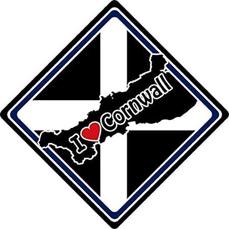 I Love Cornwall Car Sign (4) 51np 42oVTL