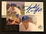 Autographed/Signed 2000 Upper Deck UD Sandy Koufax SP Authentic Chirography Los Angeles Dodgers On Card Auto Baseball Card
