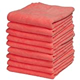 Ultra Micro Fiber Miracle Clothes (24 Pack) 12x12 Inch Red