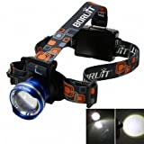 WindFire? 2000Lm CREE LED Zoomable Rotating Headlight 3 Switch Modes 3 x AA Batteries CREE XML T6 U2 LED Adjustable Focus Headlamp Torch Light Super Bright Cree LED Lamp Head Flashlight for Hiking, Camping, Riding, Cycling Fishing etc.(Battery not included)