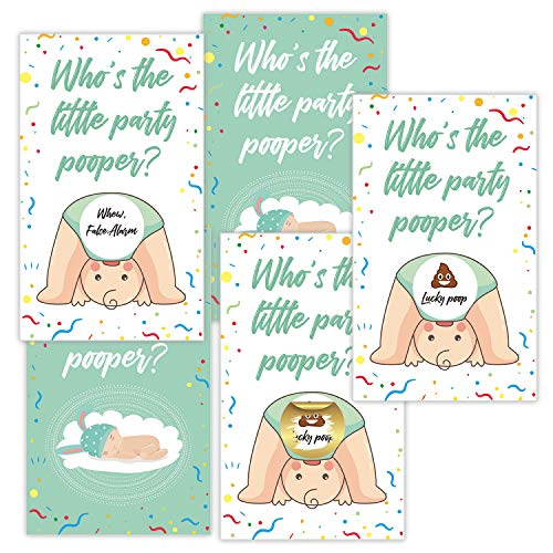 30 Funny Baby Shower Games, Baby Shower Scratch Off Emoji Lottery Ticket Raffle Card Game, Great for Boy & Girl or Gender Neutral.