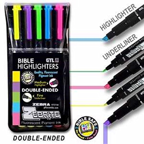 Highlighter Fluorescent Double Markers Zebrite