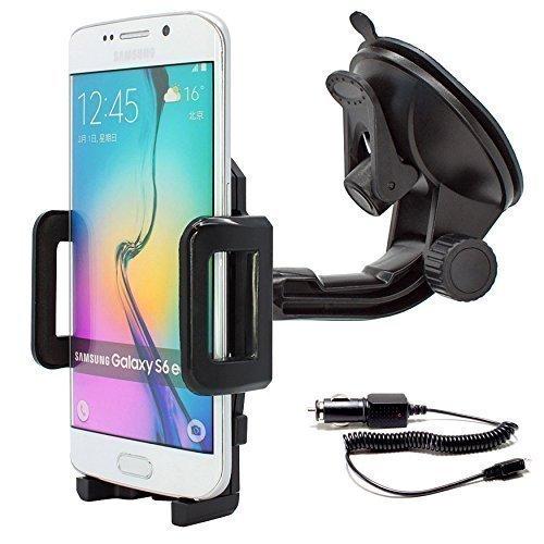 mobilefox® 360° Soporte de coche Soporte Soporte De Auto coche Cable de carga Car Holder Soporte para smartphone Samsung Galaxy S7/S6/S5/S5Mini/J1/J5/A7/A5/A3/Alpha/S4/S4Mini/S4Active/S3/S3MINI/S2/Ativ S/ Note Edge/Not