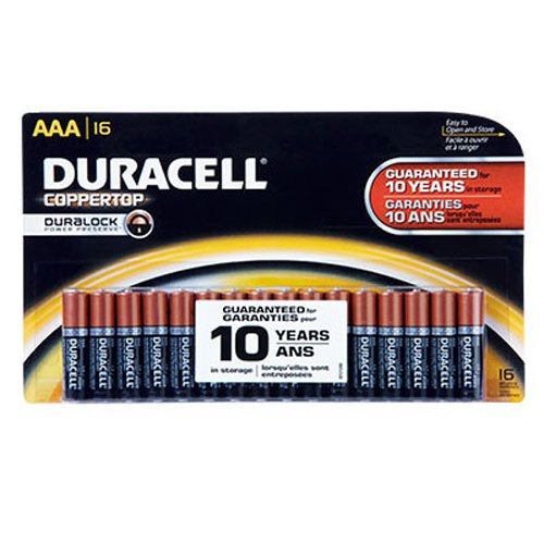 Duracell Coppertop AAA Alkaline Batteries, 16 Count by Duracell