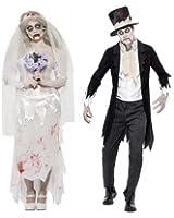 herren damen paar kost m zombie geist leiche braut br utigem halloween kost m. Black Bedroom Furniture Sets. Home Design Ideas