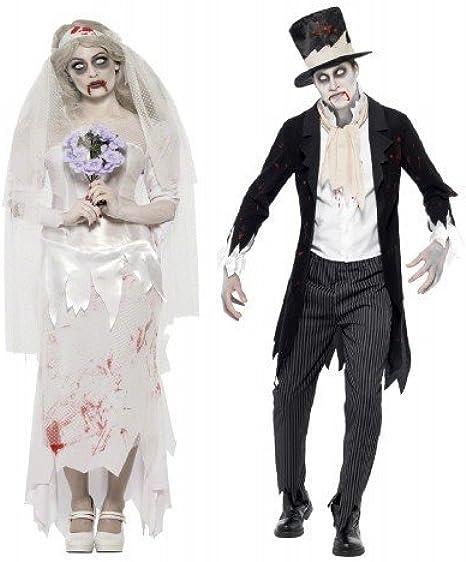 Hombre Mujer Parejas Disfraz Fantasma Zombie cadáver Novia y Novio ...