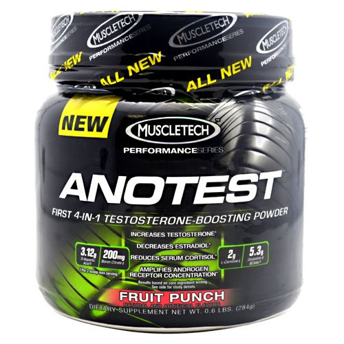 Muscletech Performance Series Anotest Fruit Punch 40 Servings Testosterone Booster