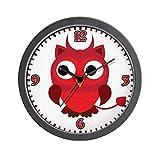 Wall Clock Little Spooky Owl Devil Monster