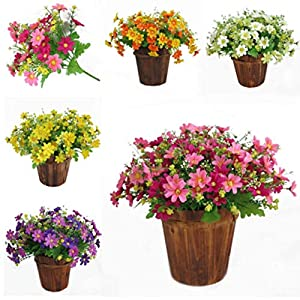 Adeeing Artificial Daisy Flowers for Wedding Home Decoration, Silk, 28 Heads 1 Bouquet 53