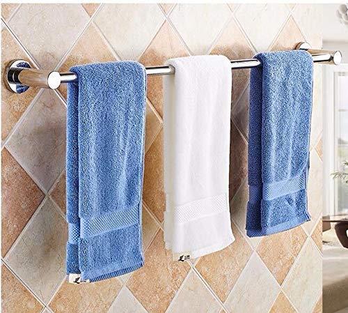 PQPQPQ Towel Racks Ring Hanger 304 Stainless Steel Single Pole Bathroom Simple 73CM