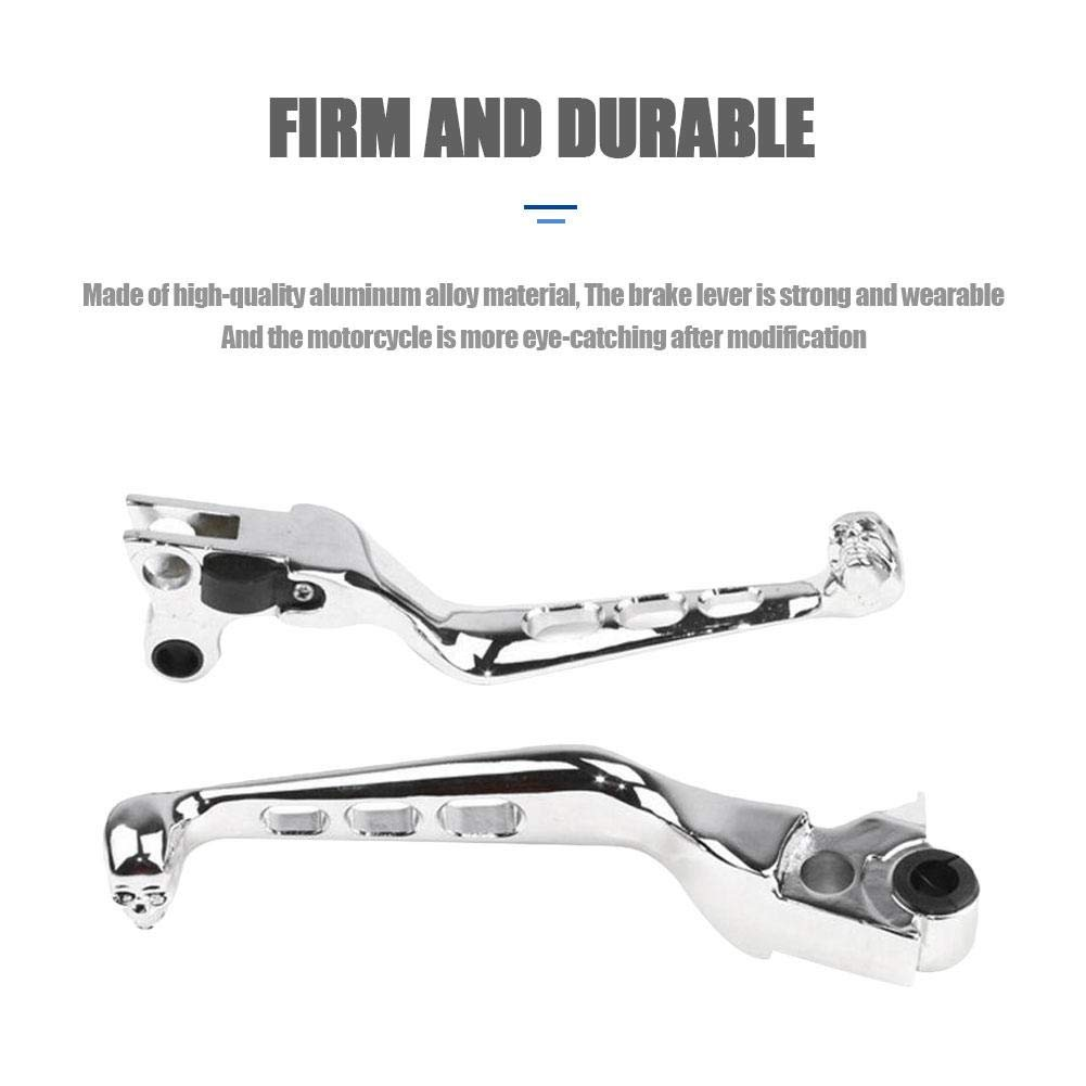 SunniY 1 Pair Motorcycle Clutch Brake Levers Aluminum Alloy Hollow Modification Hand Levers Front Hand Controls Firm and Durable for/ Harley/ Davidson/ XL883/ XL1200/ 48/ Dyna/ soft/ tail