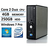 2016 Dell Optiplex 780 SFF Desktop Business Computer PC (Intel Dual-Core 2.93GHz, 4GB DDR3 Memory, 250GB HDD, DVD, Windows 7 Pro 64 Bit) (Certified Refurbished)