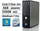 2016 Dell Optiplex 780 SFF Desktop Business Computer PC (Intel Dual-Core 2.93GHz, 4GB DDR3 Memory, 250GB HDD, DVD, Windows 7 Pro 64 Bit) (Certified Refurbished)