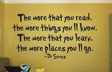 Amazon.com: Dr Seuss wall decal vinyl sticker quote bedroom wall the ...