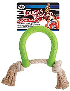 Four Paws Rough and Rugged horseshoe with Rope Dog Toy
