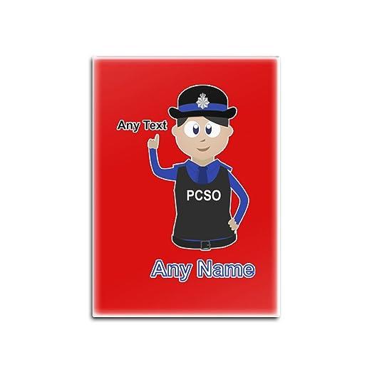 UNIGIFT Imán para Nevera con diseño de policía, Personalizable ...