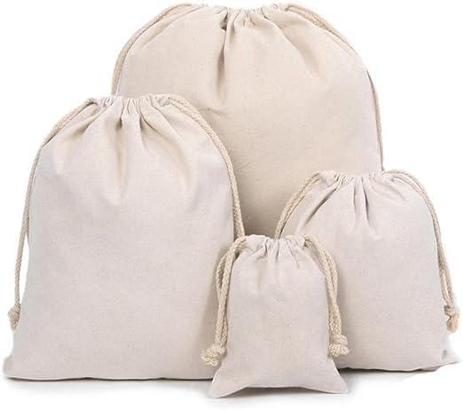 Z-synka Organic Cotton Muslin Produce Bags,Biodegradable Eco ...