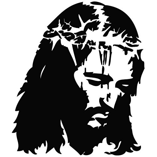 Jesus Crown of Thorn- (Color: Black) Decal - 5.9