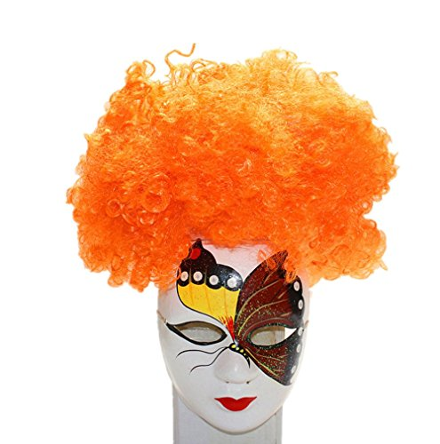 Longlove Cosplay Wig Halloween Hair Colorful Clown WIg Kids Adult Party Wig (orange) (Wigs Party City)