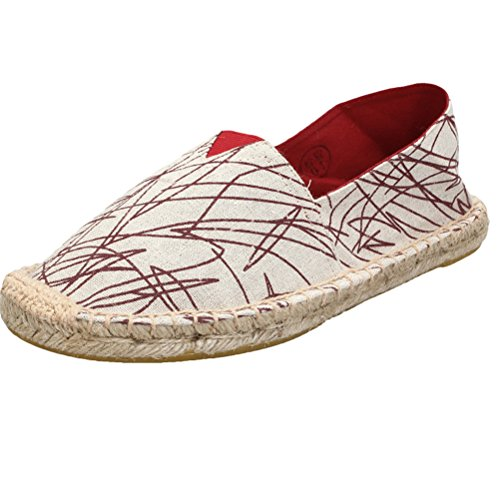 Mordenmiss Womens New Shoes Printed Slip on Canvas Flat Ch15 F79zX