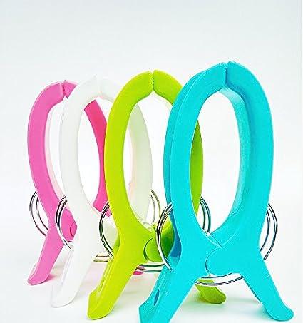 4 Stücke Große Helle Farbe Kunststoff Strandtuch Pegs Clips zu Sunbed Tools NEU