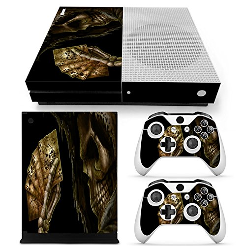 CSBC Skins Xbox One S Design Foils Faceplate Set - Poker Skull Design
