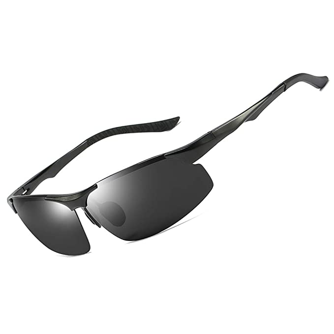 c4d0c4a968 Mens Polarized Sports Sunglasses with UV Protection HD Cycling Driving  Glasses for Men Women (Black