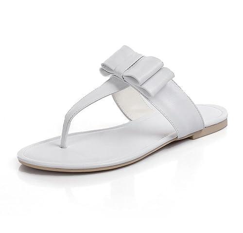 69bc85eac Sandalias de Mujer Chanclas Corbata de Moño Zapatos de Tacón Plano  Zapatillas de Moda de Verano Zapatos al Aire Libre  Amazon.es  Zapatos y  complementos
