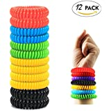Chatham 20 Pack Mosquito Repellent Bracelet -100% All Natural Bug Repellent,Non Toxic Mosquito Repellent Bracelet,Premium pest Control … (12 Pack)