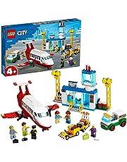LEGO 60261 City Airport Flygplats Byggset med Flygplan och Minifigurer, Leksak för Barn 4+ år