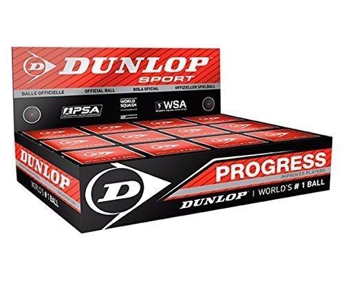 DUNLOP - Balles De Squash Paquets De 3, 6, 12 - 12pcs, Point rouge