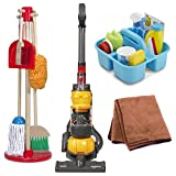 Melissa & Doug Pretend Play Cleaning Play Set and Casdon Dyson Ball Toy Vacuum with Cleaning Cloth
