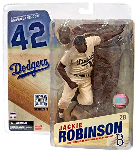 Mcfarlane Mlb 3 Figure - McFarlane Toys MLB Cooperstown Collection Series 3 Action Figure Jackie Robinson (Brooklyn Dodgers) Sepia Color Uniform Variant