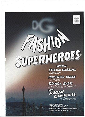 Gabbana Set - Fashion Superheroes Article & Photo Set For Dolce & Gabbana WIth Naomi Campbell