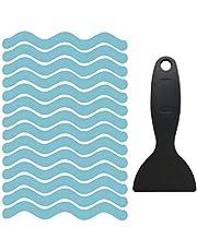 Bathtub Non Slip Stickers Larger Adhesive Anti Slip Shower Stickers Strong Non-Slip Shower Strips with Premium Scraper Xinying