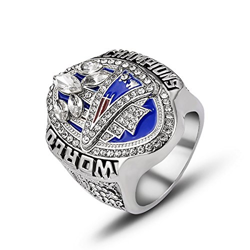 Football Mens Ring - GF-sports store Replica Championship Ring for 2017 New England Patriots Gift Fashion Ring (2017 New England Patriots)