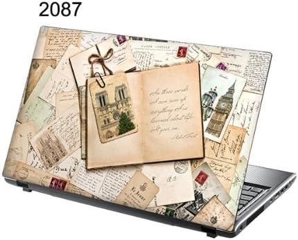 Laptop Skin Journal nostalgique 38cm x 25,5cm TaylorHe 15,6 Autocollants en vinyle color/é avec motif pour ordinateur portable