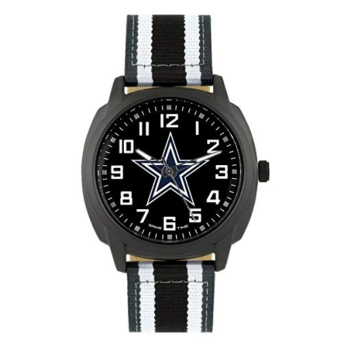 (NFL Dallas Cowboys Mens Ice Series Wrist Watch, Black, One Size)
