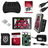 Raspberry Pi 3 Ultimate Starter Kit Complete Set Includes Raspberry Pi 3 Model B Motherboard, 7 Touchscreen Display, Power Supply, 16GB SD Card, 2 Heatsinks, Official Case & HDMI Cable & Keyboard