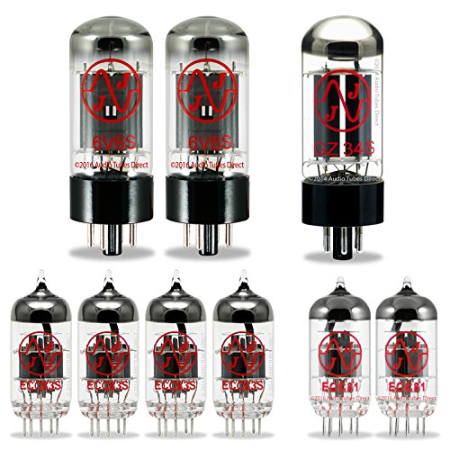 JJ Tube Upgrade Kit For Fender Blackface Deluxe Reverb Amps w/6V6S ECC83S ECC81 GZ34 by J.J.