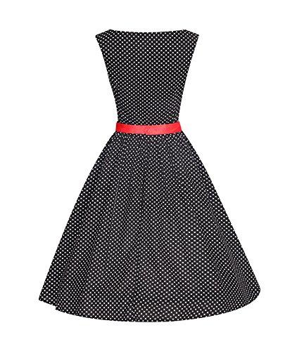ROBLORA- Vestidode noche de Cóctel 'Audrey' Vestido Vintage Años 50 An5001 negro.B