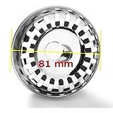 JZK® (81 ~ 82 mm) Tappo filtro lavello scarico acciaio inox filtri per lavello della cucina lavandino fogna