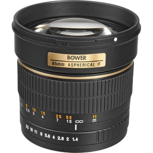 Teleobjetivo Bower SLY85C de rango medio de alta velocidad 85 mm f / 1.4 para Canon