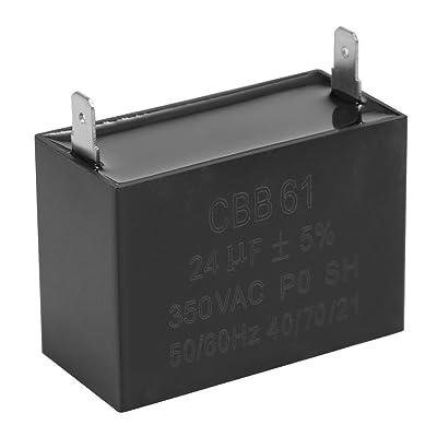 QKPARTS CBB61 24uF 23uF 300 350 400 450V Generator Capacitor for JKD DIANZ DONGRONG RUVA [5Bkhe0911670]